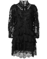 Rebecca Taylor - Ruffle Long-sleeve Dress - Lyst