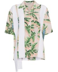 Stella McCartney - Stripe And Tropical Print Shirt - Lyst