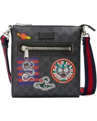 Gucci - Night Courrier GG Supreme Messenger - Lyst