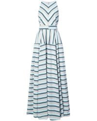 Lela Rose - Capitol xx Collection striped maxi dress - Lyst