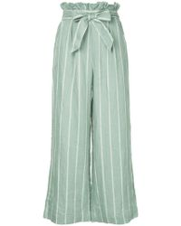 Suboo - Striped Wide Leg Trousers - Lyst