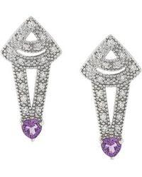 V Jewellery - Amethyst Earrings - Lyst