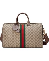 bcc9674a884 Gucci Bright Diamante Leather Duffle Bag in Black - Lyst