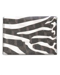 Pierre Hardy - Zebra Printed Canvas Wallet - Lyst