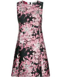 Dolce & Gabbana - Vestido de tubo con bordado floral - Lyst