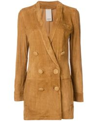 Numerootto - Double Breasted Jacket - Lyst