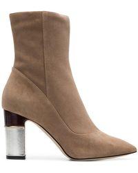 Pollini - Metallic Heel Boots - Lyst