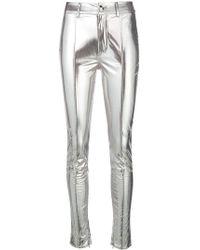 Genny - Mirror Skinny Trousers - Lyst