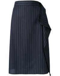 MM6 by Maison Martin Margiela   Draped Detail Skirt   Lyst