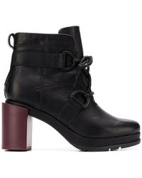 Sorel - Buckled Ankle Boots - Lyst
