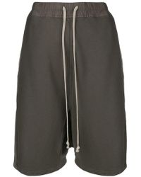 Rick Owens Drkshdw - Drawstring Drop-crotch Shorts - Lyst