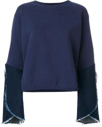 Each x Other   Hybrid Denim Sleeve Sweatshirt   Lyst