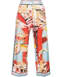 Emilio Pucci - Printed Cropped Trousers - Lyst