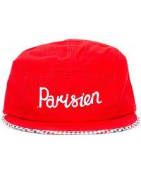 Maison Kitsuné - 'parisien' Embroidered Cap - Lyst