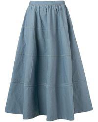 Bottega Veneta - Curved Panel Full Skirt - Lyst