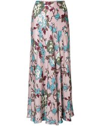 Department 5 - Floral Flared Maxi Skirt - Lyst