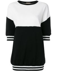 Alice + Olivia - Colour Block Short Sleeve Sweatshirt - Lyst
