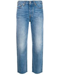 Levi's - Mid Rise Cropped Skinny Jeans - Lyst