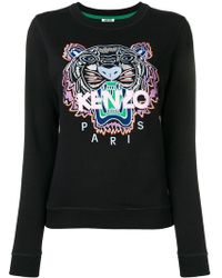 KENZO - Tiger Embroidered Sweatshirt - Lyst