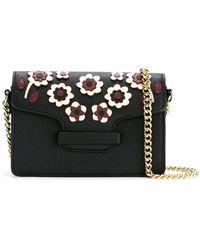 Serpui - Floral Appliqué Leather Bag - Lyst