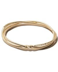 David Yurman - 18kt Yellow Gold Continuance Pavé Diamond Bangle - Lyst