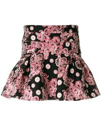Giamba - Flared Jacquard Skirt - Lyst