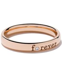 De Beers - 18kt Rose Gold Forever Diamond Band - Lyst