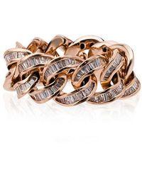 SHAY - 18k Rose Gold Jumbo Link Diamond Ring - Lyst
