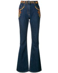 Etro - Embroided Flared Jeans - Lyst