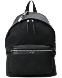Saint Laurent - City Canvas Wide Backpack - Lyst