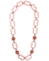 Prada - Encrusted Chain Link Necklace - Lyst