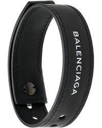 Balenciaga - Logo Embroidered Bracelet - Lyst