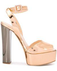 b3f5d397bbb Lyst - Giuseppe Zanotti  betty  Platform Sandals in Metallic