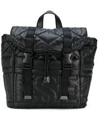 DIESEL - Padded Logo Backpack - Lyst