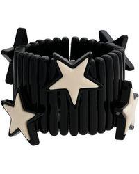 Miu Miu - Black Large Stars Bracelet - Lyst