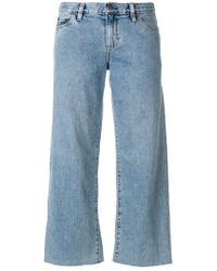 Simon Miller - Cropped Wide-leg Jeans - Lyst
