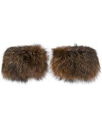 Armani - Fox Fur Bracelet Pair - Lyst
