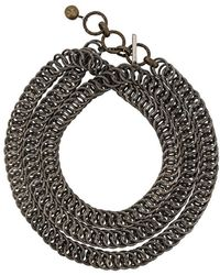Lanvin - Textured Chain Necklace - Lyst