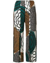 Pleats Please Issey Miyake - Printed Pleated Cropped Trousers - Lyst