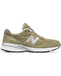 New Balance - Green 990v4 Suede Low-top Sneakers - Lyst