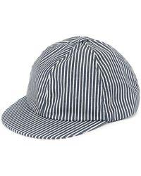 7113273d6e1a8 Beton Cire - Striped Baseball Cap - Lyst