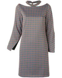 AALTO - Checked Cut Out Dress - Lyst