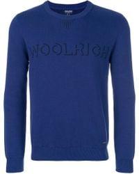 Woolrich - Logo Intarsia-knit Sweater - Lyst