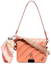Off-White c/o Virgil Abloh - Pink Quilted Bulldog Clip Leather Shoulder Bag - Lyst