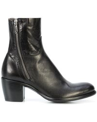 Rocco P - Block Heel Ankle Boots - Lyst