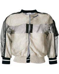 Aviu - Knitted Panel Bomber Jacket - Lyst