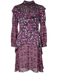 Anna Sui - Incense And Joy Chiffon High Neck Dress - Lyst