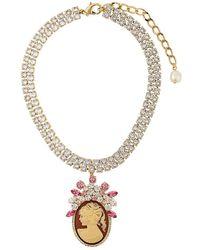 Dolce & Gabbana - Embellished Pendant Necklace - Lyst