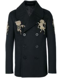 Alexander McQueen - Embroidered Peacoat - Lyst