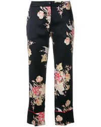 Alexander McQueen - Cropped Pyjama-style Trousers - Lyst